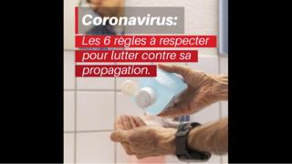 Coronavirus: les six règles à respecter pour éviter la propagation