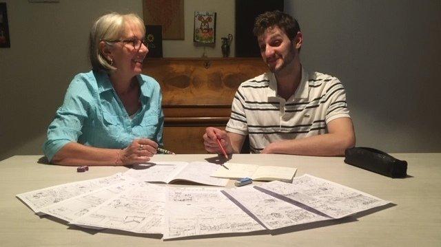 Marguerite Oberson et son fils Jean ont mis à profit le semi-confinement pour créer une BD.