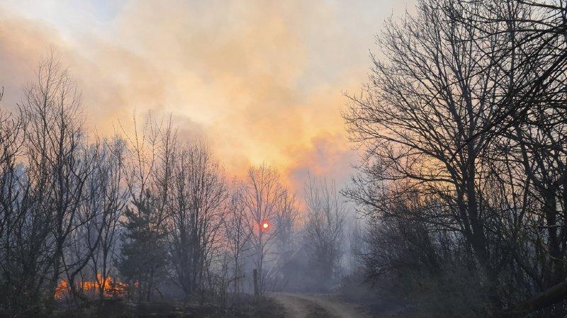 Ukraine: le feu de forêt continue de s'étendre près de Tchernobyl