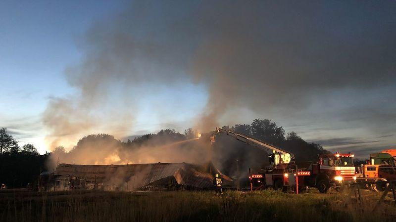 Fribourg: usine de traitement des eaux détruite par un incendie à Granges Veveyse