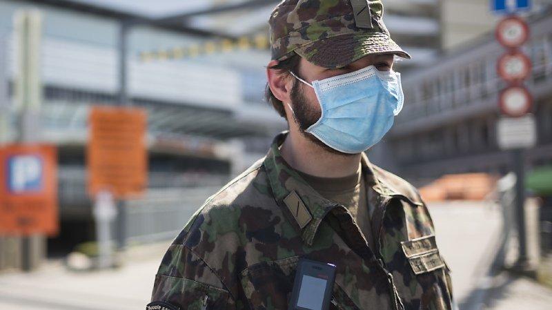 L'armée, qui est engagée dans 50 hôpitaux à travers la Suisse, va commencer à lever le pied. (illustration)