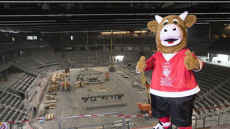 La mascotte Cooly retrouvera-t-elle rapidement un Championnat du monde en Suisse? (Archives)
