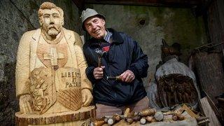 Paul Monney a quitté son cher village de Saint-George pour sculpter les nuages