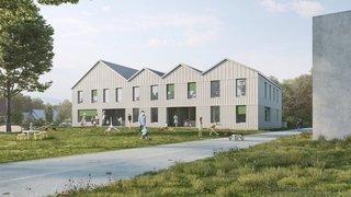 Prangins: une maison en bois et en paille pour abriter la nouvelle crèche