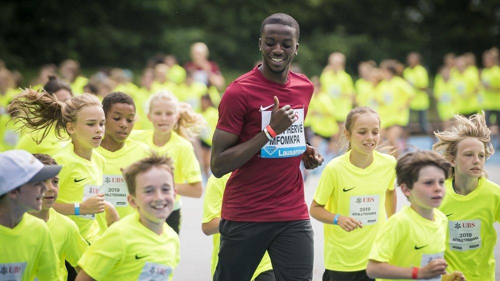 Alain-Hervé Mfomkpa (ici en 2019 à Athletissima) n'a pas caché son enthousiasme au moment de retrouver la compétition.