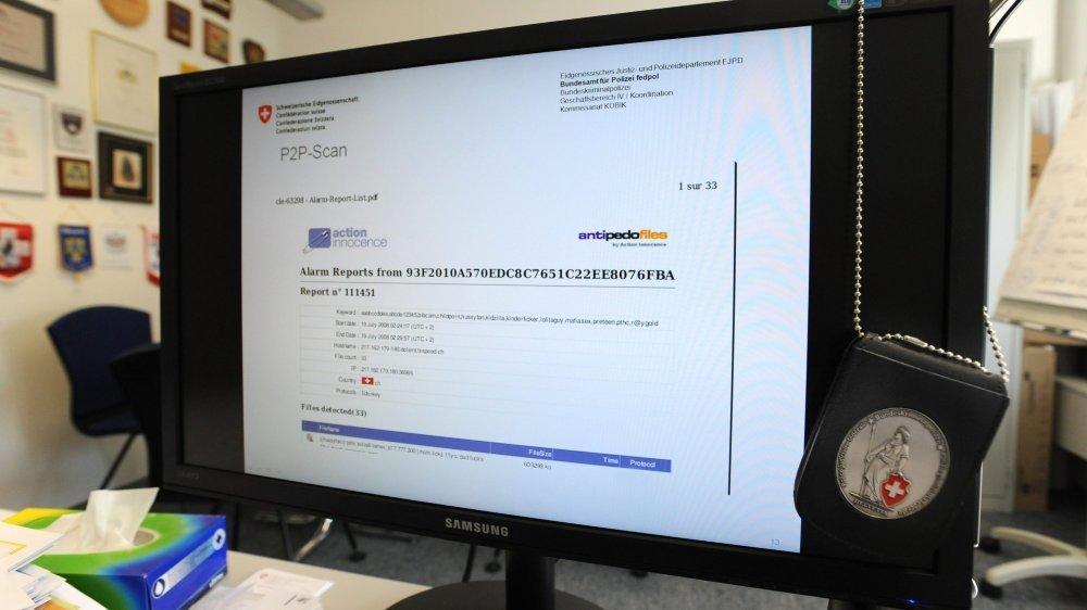 Le prévenu a été signalé par le service national de coordination de la lutte contre la criminalité sur internet (Scoci) après son 9e téléchargement de fichiers à l'intitulé sans équivoque.
