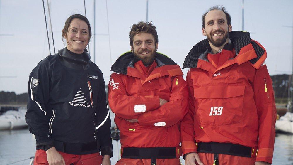 Justine Mettraux accompagne Valentin Gautier (au centre) et Simon Koster pour cette aventure.