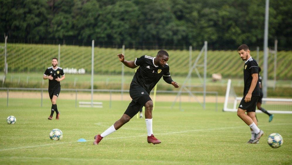 Jordi Nsiala et les Nyonnais ont pu retrouver les joies de l'entraînement collectif.