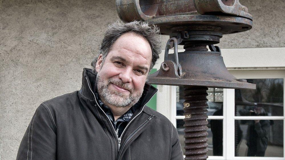 Eric Cretegny lors de son élection, au premier tour, à la Municipalité de Reverolle. C'était le 29 janvier 2012.