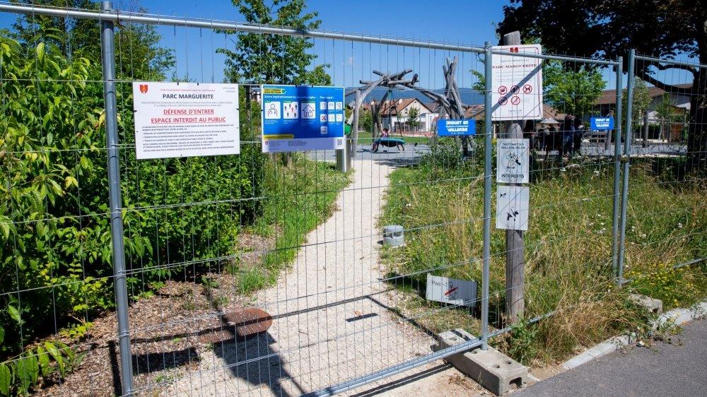 Pour l'heure, seuls les écoliers fréquentant l'école voisine sont autorisés à profiter du parc.