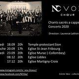 Concert du Choeur NC Vox- Chants sacrés a cappella