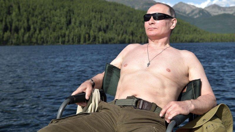 En Sibérie, on profite parfois de températures particulièrement estivales, comme Vladimir Poutin, ici en 2017.