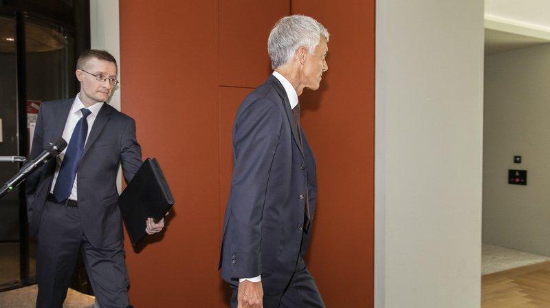 Affaire Lauber: les frais d'avocat ont jusqu'à présent été payés par le MPC