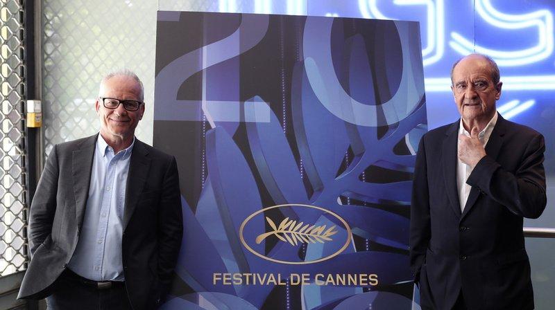 Le directeur du festival, Thierry Fremaux (gauche) et son président Pierre Lescure.