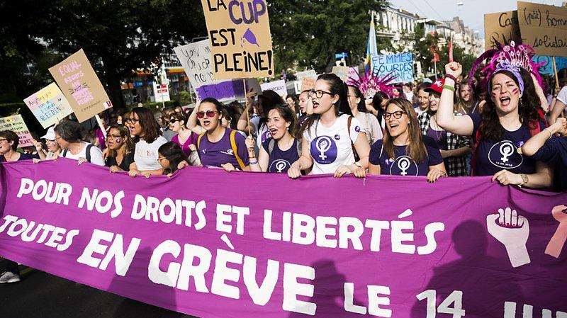 L'égalité salariale était l'une des principales revendications de la Grève des femmes le 14 juin 2019, comme ici à Genève (archives).