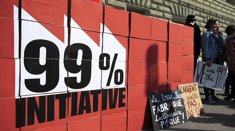 Impôts: les cantons rejettent l'initiative «99%» qui vise à taxer 1% des Suisses les plus riches