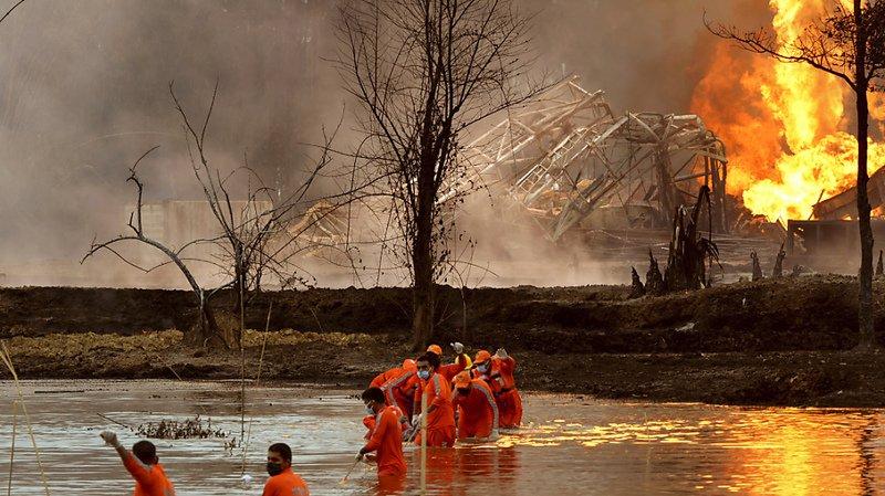 Le champ pétrolier se trouve à côté d'un parc national où vivent plusieurs espèces protégées.