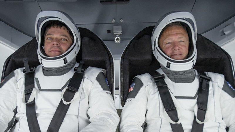 Doug Hurley et Bob Behnken s'entraînent depuis cinq ans sur la capsule. (Archives)