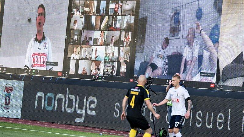 Les spectateurs étaient présents grâce à Zoom au Danemark.