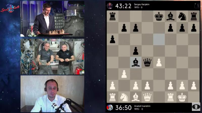 Espace: deux cosmonautes neutralisent le champion d'échecs Kariakine