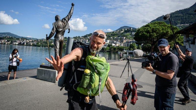 """Défi Parkinson: Yves Auberson a entamé ses 1000km """"comme un cabri"""""""