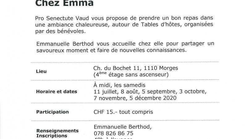 Table d'hôtes à Morges - Chez Emma