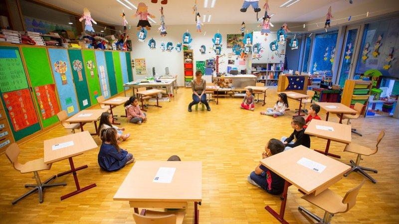 A Rolle comme dans les autres établissement du canton, l'école avait repris le 11 mai par petits groupes.