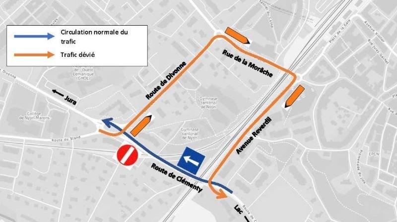 Nyon: la route de Clémenty en chantier durant 3 mois