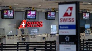 Coronavirus: chute de 62% des passagers dans les aéroports suisses en mars