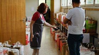 A Nyon, première distribution alimentaire d'urgence