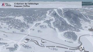 """La modernisation en cours du domaine skiable de la Dôle/Les Rousses, rebaptisé """"Jura sur Léman"""""""