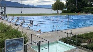 La piscine de Colovray a ravi ses fidèles malgré le temps automnal