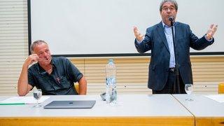 Président des vignerons suisse, Frédéric Borloz a fait face à sa base en colère