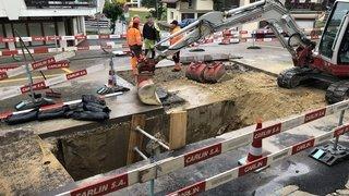 Saint-Cergue: trou rebouché et route stabilisée
