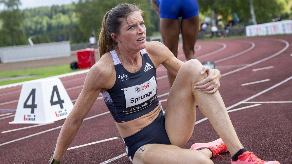 Lea Sprungera fait sa rentrée sur 400 m haies, samedi, à La Chaux-de-Fonds.