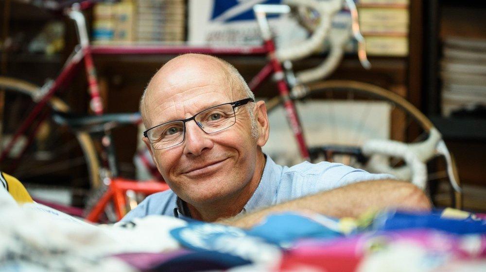 La vie de Michel Favre est rythmée par le vélo depuis plus de cinquante ans.