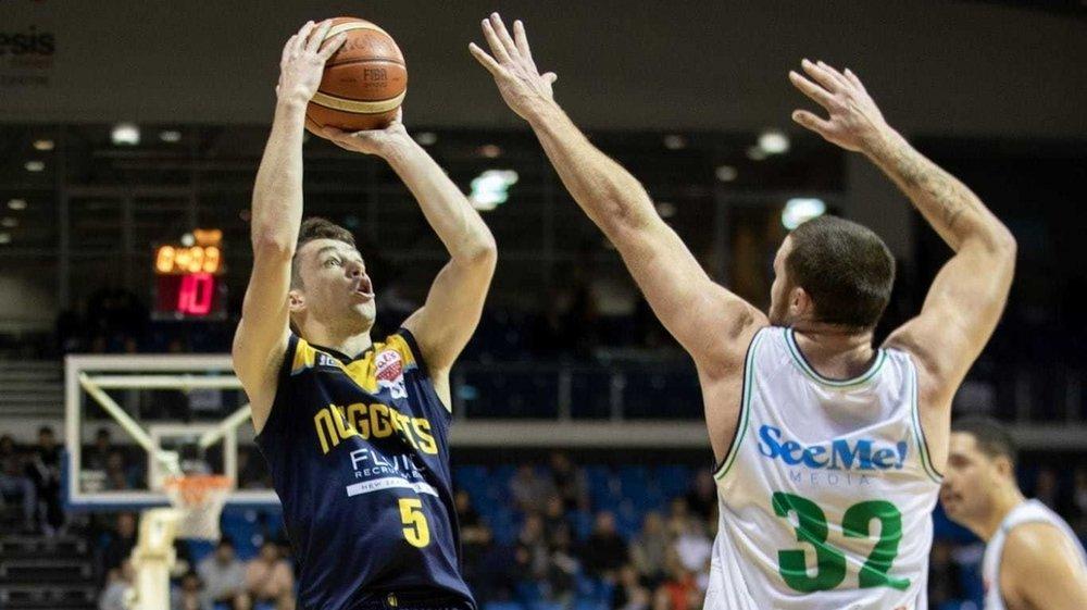 Benoit Hayman jouait une dizaine de minutes par match en sortie de banc avec les Nuggets d'Otago.