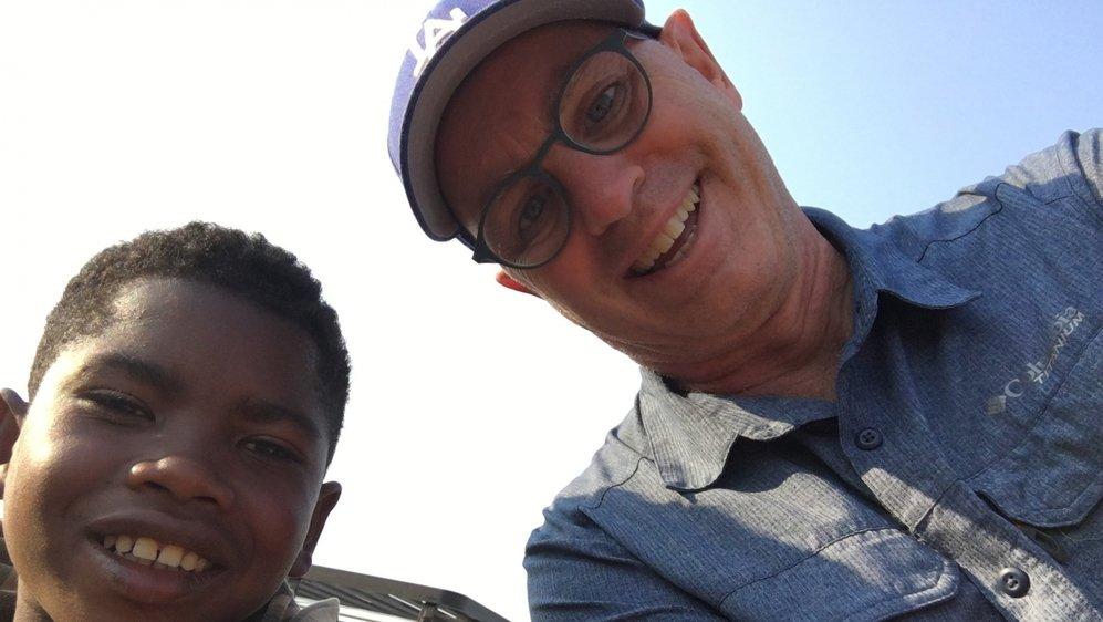 L'animateur Jean-Marc Richard en vacances à Madagascar en septembre 2018.