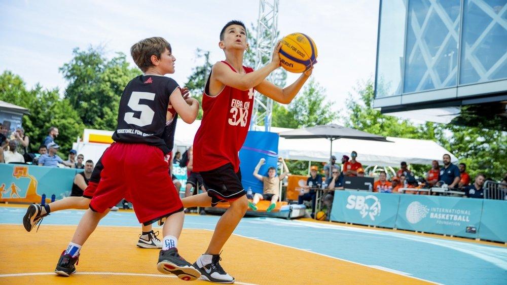 Seuls les M14, M12 et M9 pourront se faire plaisir cette année devant la Maison du Basket.