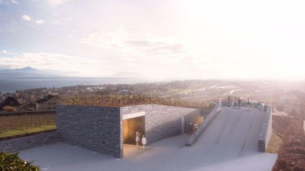 """La future Maison des vins de La Côte selon le projet lauréat baptisé """"Entre murs""""."""