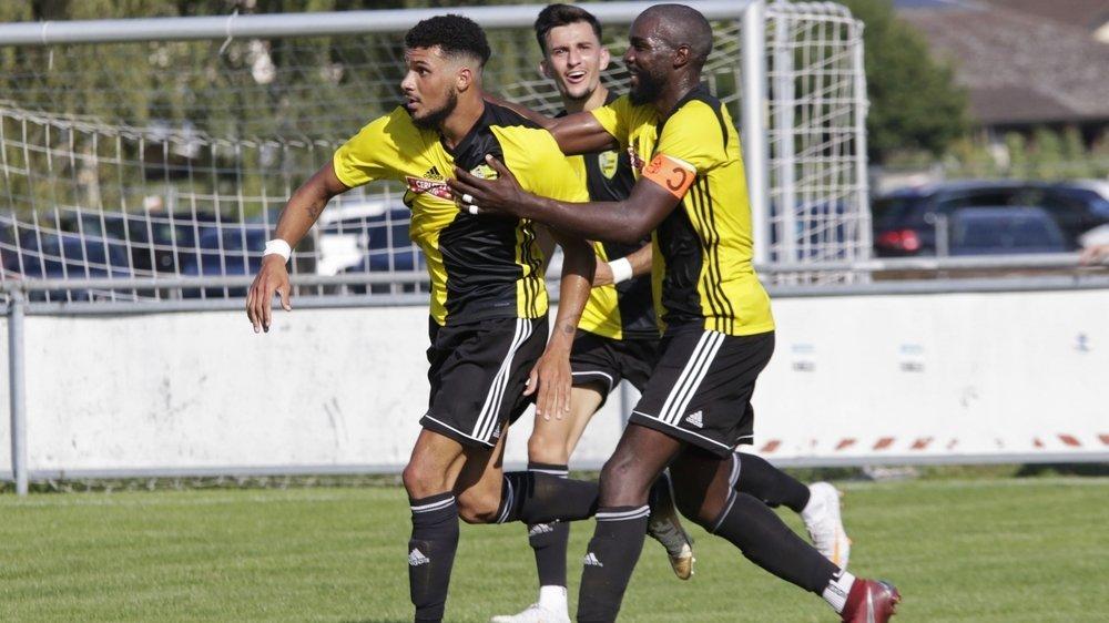 Décisif en Coupe face à Bavois, Adler da Silva (à gauche) sera un atout maître dans le jeu du Stade Nyonnais cette saison.