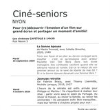 Ciné-seniors Nyon - Joyeuse retraite