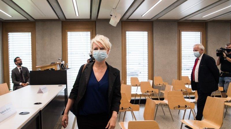 La présidente de l'Assemblée fédérale a tout d'abord rendu visite aux Tessinois, pour faire le bilan de la pandémie.