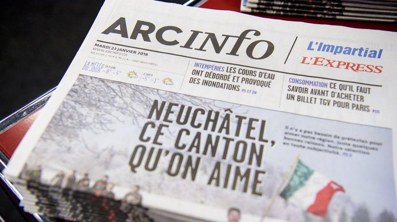 Médias: nouvelle équipe pour piloter la rédaction du quotidien neuchâtelois ArcInfo