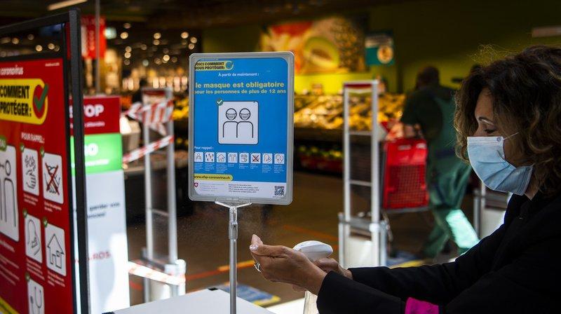Dans le canton de Vaud, le port du masque est obligatoire dans les magasins de plus de 10 personnes. (Illustration)
