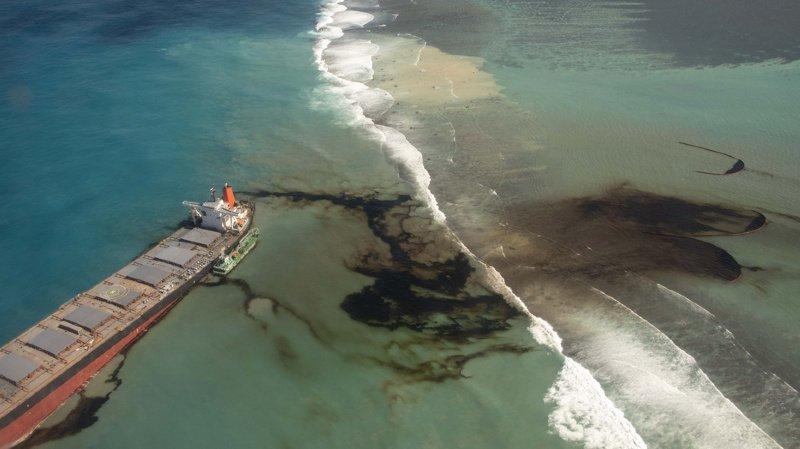 Les épanchements d'hydrocarbures du Wakashio, navire échoué, sont déjà visibles et ont commencé à polluer les côtes mauriciennes.