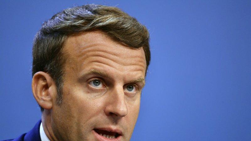 """""""Le combat se poursuit"""", a déclaré Emmanuel Macron sur Twitter à propos de la lutte anti-terroriste (archives)."""