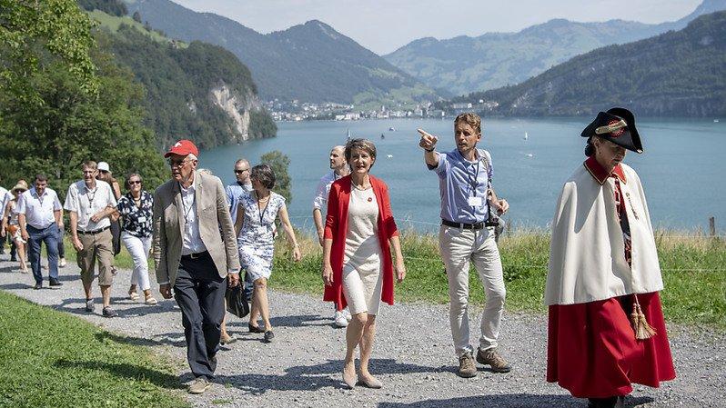 Fête nationale: pour Simonetta Sommaruga, la Suisse est «solide et unie» face au coronavirus