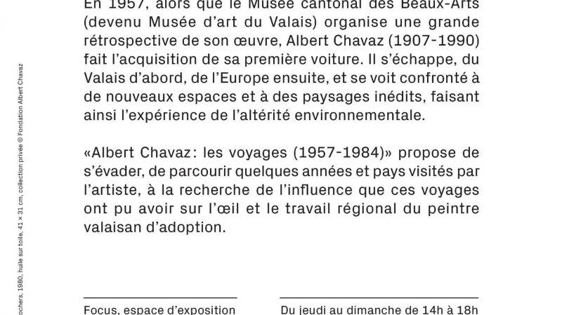 Vernissage Albert Chavaz : les voyages (1957-1984)
