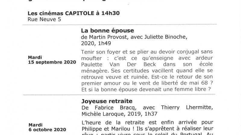 Ciné-sneiors Nyon  - Le regard de Charles